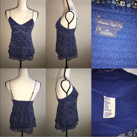 American Eagle Outfitters Tops - [American Eagle] Floral Sleeveless Top